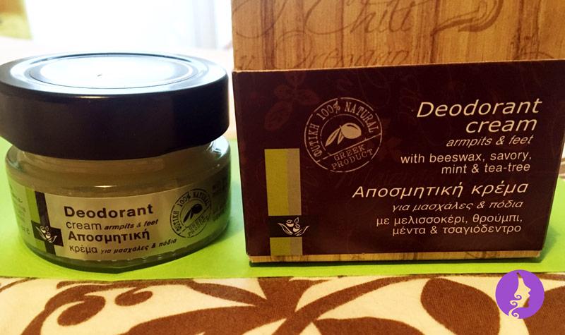 Balení přírodního deodorantu se saturejkou, mátou a tea tree